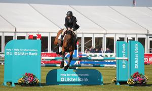 Press Eye - Belfast - Northern Ireland - 15th May 2019  First day of the Balmoral Show, in partnership with Ulster Bank at Balmoral Park outside Lisburn.  Horse show jumping takes place at the start of the show.    Picture by Jonathan Porter/PressEye
