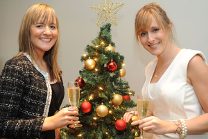 Suzie McDonald and Laura-Louise Dickson at the Fitzwilliam Hotel in Belfast for the 2013 CIPR Christmas Social