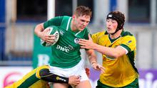 Ulster centre Hayden Hyde in action for Ireland