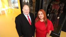 Alderman Gregg McKeen and Anne Donaghy, chief executive of Mid and East Antrim Borough Council