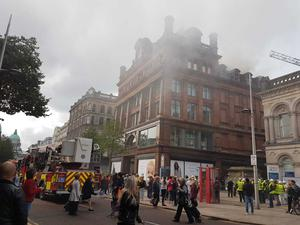 The Northern Ireland Fire and Rescue Service are attending an incident in Belfast city centre.
