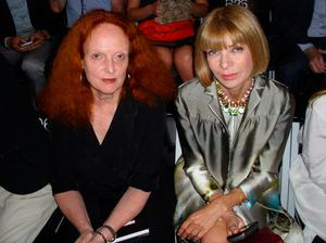 Grace with American Vogue editor Anna Wintour