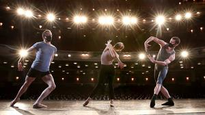 Scottish Ballet rehearse on stage at the Edinburgh Festival Theatre at the launch of the Edinburgh International Festival (Andrew Milligan/PA)