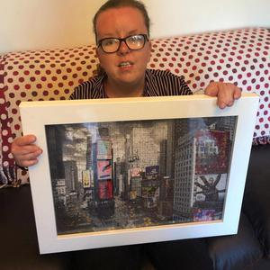 Angela Kirkpatrick, 29, from Maghera, has raised nearly £5,000 for Marie Curie by raffling a jigsaw that she completed at home during lockdown.