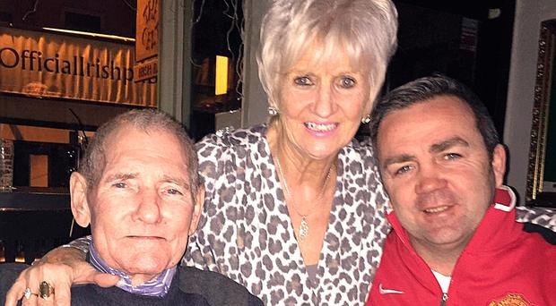 In the family: Gerry Flynn with late dad Gerry and mum Mary