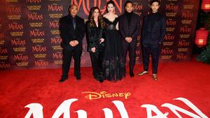 The stars attended the European premiere of Disney's Mulan, held in Leicester Square, London (Ian Wes/PA)