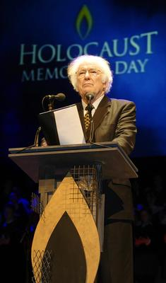 PACEMAKER BFST 27-01-04Poet Laureate Seamus Heaney guest speaker at the Holocaust Memorial  event in the Waterfront Hall. 30/08/2013 Seamus Heaney passed away yesterday. He was a legendary Irish poet, playwright, translator, lecturer and recipient of the 1995 Nobel Prize in Literature