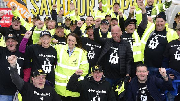 Harland and Wolff shipyard has been saved from closure after being bought for £6m by a London-based energy company. All 79 workers who opted out of taking voluntary redundancy will be kept on by Infrastrata.