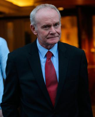 Martin McGuinness at the Bishop's Gate Hotel in Londonderry, as the former Deputy First Minister announced that he is quitting elected politics to concentrate on recovering from serious health issues.  Niall Carson/PA Wire