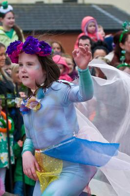 A dancer at the All KInds of Everything Spring Carnival in Derry~Londonderry as part of a weekend of celebrations marking St. Patrick's Day. Picture Martin McKeown. 17.3.13