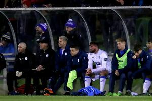 SSE Airtricity League First Division Promotion/Relegation Play-off Series Final Second Leg, Market's Field, Limerick 2/11/2018 Limerick vs Finn Harps Finn Harps' Paddy McCourt in the dugout Mandatory Credit ©INPHO/Tommy Dickson