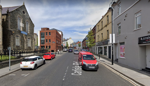 The incident happened in the Carlisle Road area. Pic Google.