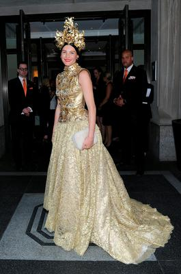 NEW YORK, NY - MAY 04:  Tabitha Simmons departs The Mark Hotel for the Met Gala at the Metropolitan Museum of Art on May 4, 2015 in New York City.  (Photo by Andrew Toth/Getty Images for The Mark Hotel)