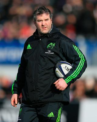 File photo dated 17-01-2015 of Munster's Head Coach Anthony Foley. PRESS ASSOCIATION Photo. Issue date: Monday October 17, 2016. The world of rugby has united to pay tribute to Munster head coach Anthony Foley, who has died at the age of 42. See PA story RUGBYU Foley. Photo credit should read Nigel French/PA Wir