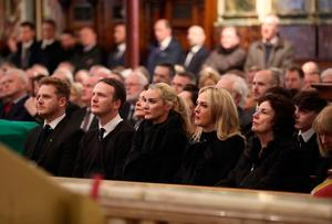 The funeral of Northern Ireland's former deputy first minister and ex-IRA commander Martin McGuinness takes place at St Columba's Church Long Tower, in Londonderry. : Niall Carson/PA Wire