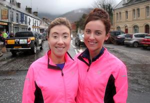 Press Eye - Kilbroney Park - Belfast Telegraph Run Forest Run Race - 2nd January 2016 Photograph By Declan Roughan  The 5th Born2Run Belfast Telegraph Run Forest Run at Kilbroney Park, Rostrevor, Co Down.  (L-R Sinead Mc Shane and Nula Malone from Newry
