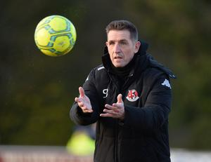 Crusaders Manager Stephen Baxter- BEM for services to Football in Northern Ireland.  Photo Colm Lenaghan/Pacemaker Press