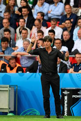 PARIS, FRANCE - JUNE 21: Germany manager Joachim Low during the UEFA EURO 2016 Group C match between Northern Ireland and Germany at Parc des Princes on June 21, 2016 in Paris, France. (Photo by Charles McQuillan/Getty Images)