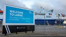 Scottish link: A P&O ferry prepares to sail to Cairnryan from Larne. Mutual Energy owns the Moyle Interconnector between NI and Scotland