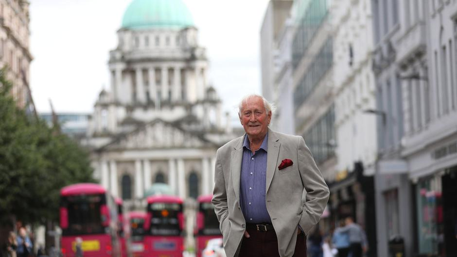 Alf McCreary in Donegal Place in Belfast city centre. Photo by Peter Morrison