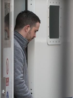 Liam Whoriskey arrives at court in Londonderry.
