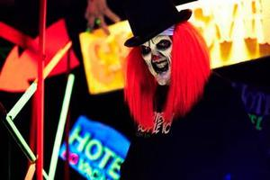 A clown at Nightmare Realm in Dublin