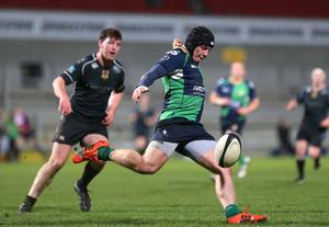 Zack McCall in action for Ballynahinch.