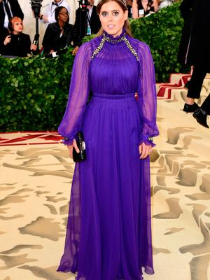 Princess Beatrice of York attending the Metropolitan Museum of Art Costume Institute Benefit Gala 2018 in New York, USA. PRESS ASSOCIATION Photo. Picture date: Monday May 7, 2018. See PA story SHOWBIZ MET Gala. Photo credit should read: Ian West/PA Wire
