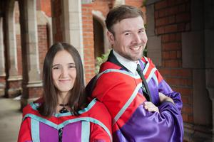 Brother and sister Lyndsey and Stephen Herron from Keady Road, Armagh, are both graduating from Queen's with PhDs - Lyndsey's in Biological Sciences and Stephen in Social Anthropology.