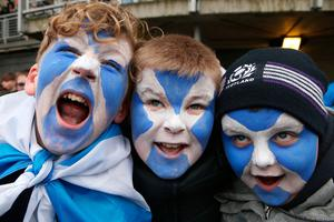 Scotland fans ahead of the RBS 6 Nations match at BT Murrayfield Stadium, Edinburgh. PRESS ASSOCIATION Photo. Picture date: Saturday February 4, 2017. See PA story RUGBYU Scotland. Photo credit should read: Jane Barlow/PA Wire. RESTRICTIONS: Editorial use only, No commercial use without prior permission.