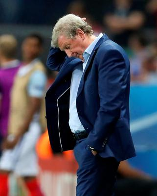 England manager Roy Hodgson looks dejected on the touchline during the Round of 16 match at Stade de Nice, Nice, France. PRESS ASSOCIATION Photo. Picture date: Monday June 27, 2016. See PA story SOCCER England. Photo credit should read: Owen Humphreys/PA Wire. RESTRICTIONS: Use subject to restrictions. Editorial use only. Book and magazine sales permitted providing not solely devoted to any one team/player/match. No commercial use. Call +44 (0)1158 447447 for further information.