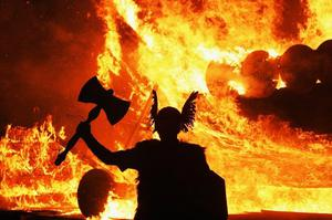 In Britain bonfires are lit to celebrate Hogmanay and the Gunpowder Plot of 1605