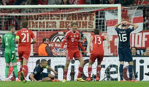 Bayern Munich's Thomas Muller celebrates scoring his side's second goal  during the Champions League, Quarter Final, Second Leg at the Allianz Arena, Munich, Germany.