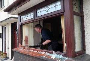 "PACEMAKER, BELFAST, 16/6/2020: A house in the Westbourne Crescent area of Coleraine was attacked in the early hours of Tuesday morning in what the PSNI have described as ""a sectarian motivated hate crime"". PICTURE BY STEPHEN DAVISON"