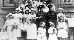Family affair: Dun Laoghaire parishioners Ethel and Rowland Crossley on their wedding day