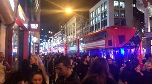 The scene in Oxford Street in London after police responded to a number of reports of shots being fired on Oxford Street and underground at Oxford Circus tube station and are responding as if the incident is terrorist related. PRESS ASSOCIATION Photo. Picture date: Friday November 24, 2017. See PA story POLICE Tube. Photo credit should read: Georgina Stubbs/PA Wire
