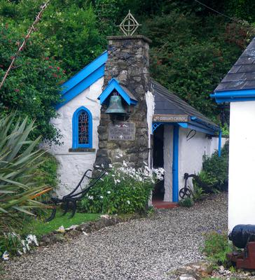 Locals claim this building in Portbraddan, Co Antrim is the smallest church in Ireland. It was built 1950s as cow byre. Photo by David Fennelly
