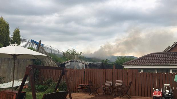 Fire broke out on the Cave Hill on Wednesday.