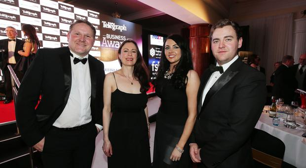 Belfast Telegraph Business Awards in association with British Airways at the Culloden Hotel. Neil Gibson, Gail Walker, Naoimh McConville & Conleth McConvilleÊpictured at the Belfast Telegraph Business Awards. Press Eye - Belfast - Northern Ireland 21st April 2016 - Photo by Kelvin Boyes / Press Eye.