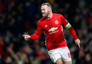 Manchester United's Wayne Rooney celebrates scoring his side's first goal of the game during the UEFA Europa League match at Old Trafford, Manchester. PRESS ASSOCIATION Photo. Picture date: Thursday November 24, 2016. See PA story SOCCER Man Utd. Photo credit should read: Martin Rickett/PA Wire