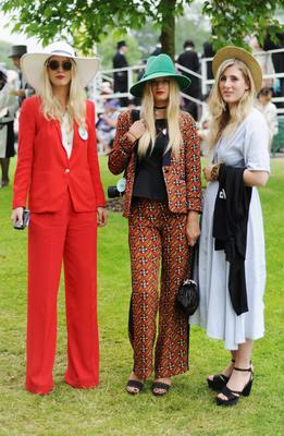 ASCOT, ENGLAND - JUNE 20: Racegoers pose during Ladies' Day on day three of Royal Ascot at Ascot Racecourse on June 20, 2013 in Ascot, England.  (Photo by Stuart C. Wilson/Getty Images for Ascot Racecourse)