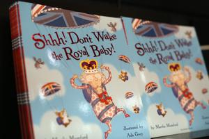 The children's book 'Shhh! Don't Wake the Royal Baby!' in Waterstones bookshop. (Photo by Oli Scarff/Getty Images)