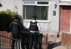 Police at the scene where a man was stabbed in the Ballywalter Gardens area of Bangor. Photo-Jonathan Porter/Presseye.
