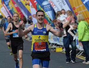 Pacemaker Press 1/5/2017  Runners  during the Belfast City Marathon on Bank Holiday Monday, with over 15,000 people taking part threw the streets of Belfast, with the Finish line at Ormeau Park. Pic Colm Lenaghan/Pacemaker