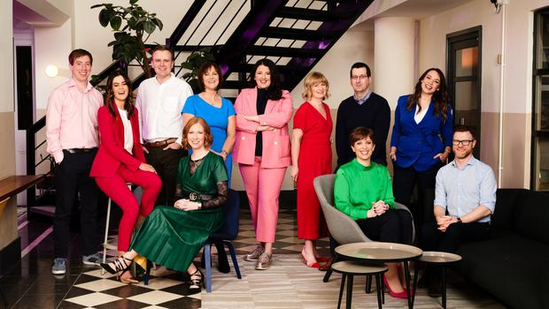 Power NI's Dr Joe Devlin, Karen Malone, Mark Liggett, Gillian McCaughtry (front), Michelle Hanley, Gemma-Louise Bond, Jenny Livingstone, William Steele, Gwyneth Compston (front), Amy Bennington and Mick O'Reilly