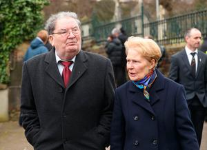 John Hume and wife Pat.  Niall Carson/PA Wire