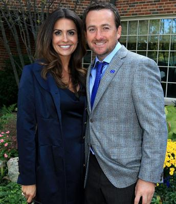 39th Ryder Cup Opening Ceremony...MEDINAH, IL - SEPTEMBER 27:  Graeme McDowell of Europe poses with his girlfriend Kristin Stape after the Opening Ceremony for the 39th Ryder Cup at Medinah Country Club on September 27, 2012 in Medinah, Illinois.  (Photo by David Cannon/Getty Images)...S