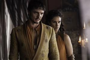 Game of Thrones Oberyn with Ellaria, mother of the four youngest Sand Snakes HBO