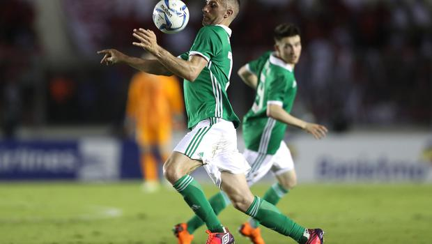 Press Eye - Belfast -  Northern Ireland - 29th May 2018 - Photo by William Cherry/Presseye  Northern Ireland's Aaron Hughes during Wednesday nights International Friendly at the Estadio Rommel Fernandez, Panama City.
