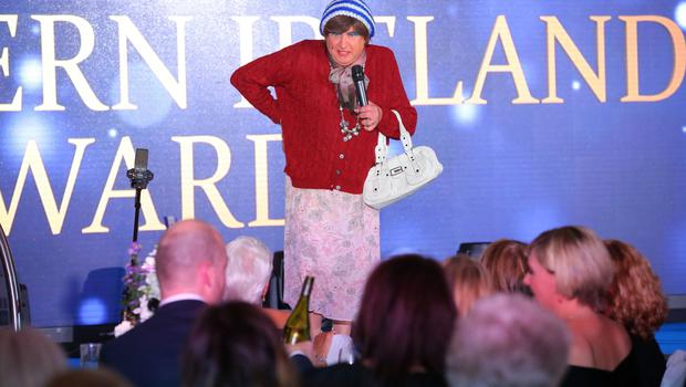 Press Eye - Belfast - Northern Ireland - 16th June 2017 -   May McFettridge pictured at the Sunday Life Spirit of Northern Ireland Awards with Specsavers at the Culloden Hotel. Photo by Kelvin Boyes / Press Eye.